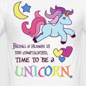 Einhorn: Being Menneskelig er for kompliceret ... - Herre Slim Fit T-Shirt