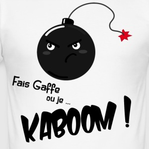 Kaboom! - Männer Slim Fit T-Shirt
