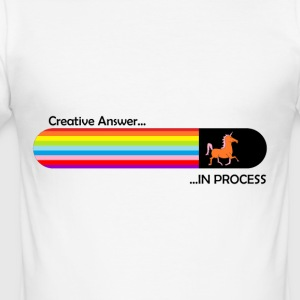 Creative answer is loading Unicorn - Men's Slim Fit T-Shirt