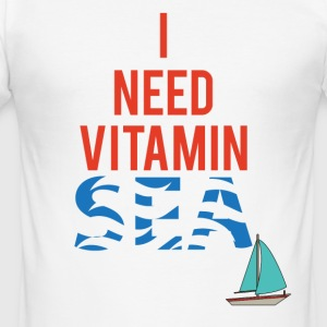 Sailing: I need Vitamin Sea - Men's Slim Fit T-Shirt
