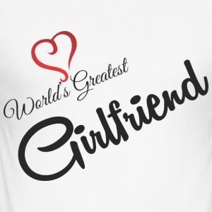 GREATEST GIRLFRIEND MONDES - Tee shirt près du corps Homme