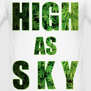 Høy som Sky Weed Design - Slim Fit T-skjorte for menn