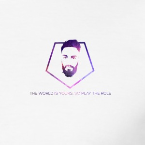 The World is Yours, so play the role - Männer Slim Fit T-Shirt