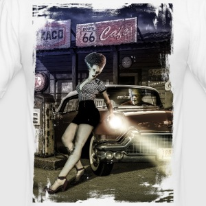 monster_cadillac_vertical_color - Camiseta ajustada hombre