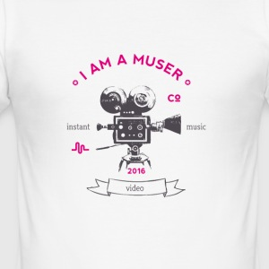 muser_kamera Vintage old love video app music - Men's Slim Fit T-Shirt