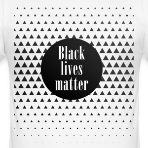 black lives matter pattern cool black slogan fun - Men's Slim Fit T-Shirt