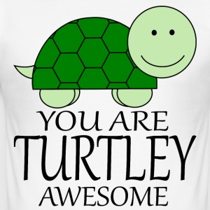 You_Are_Turtley_Awesome - Maglietta aderente da uomo