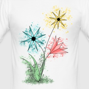 blommor - Slim Fit T-shirt herr
