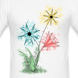 blomster - Slim Fit T-skjorte for menn