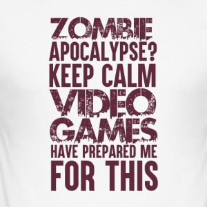 Gamer - Zombie Apocalypse - Slim Fit T-skjorte for menn