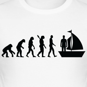 Evolution Segeln Segler Seglerin b - Männer Slim Fit T-Shirt