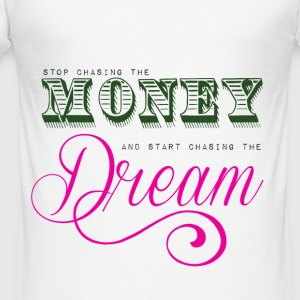 Stop chasing the money - Herre Slim Fit T-Shirt