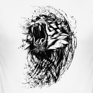 BAD TIGER COLLECTION - Slim Fit T-skjorte for menn