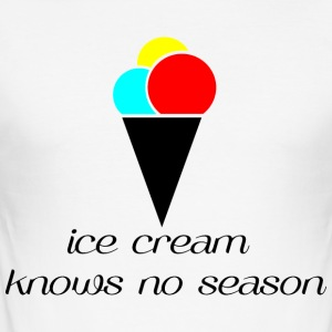 Ice Cream knows no season - Men's Slim Fit T-Shirt