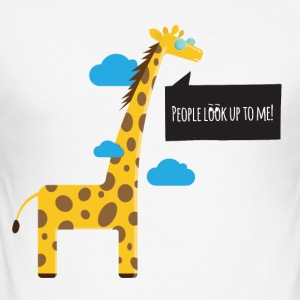 Cool Giraffe - Slim Fit T-shirt herr
