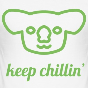 Chillin' Koala - Männer Slim Fit T-Shirt