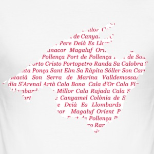 Mallorca map of where Pink - Men's Slim Fit T-Shirt