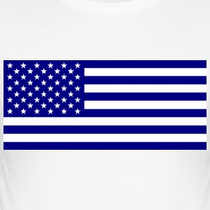 American_flag_blue1 - Männer Slim Fit T-Shirt