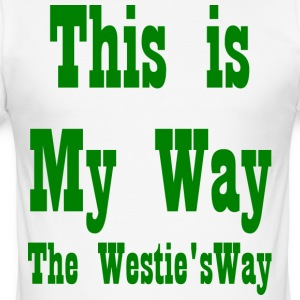 This is My Way Green - Men's Slim Fit T-Shirt