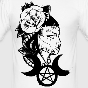 Poetic witch_Psike13 - Männer Slim Fit T-Shirt