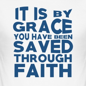 Faith Saved You - Believe - Men's Slim Fit T-Shirt