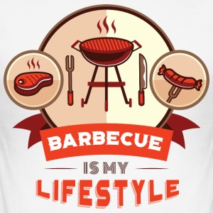 BBQ IS MY LIFESTYLE - Men's Slim Fit T-Shirt