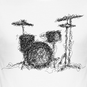 Scribble Batterie - Männer Slim Fit T-Shirt