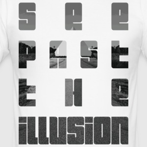See past the illusion design by KylaCher Studio - Men's Slim Fit T-Shirt
