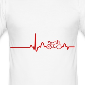 EKG Heart Line BIKE. Show your love for your bike! - Men's Slim Fit T-Shirt
