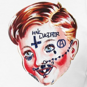 Hail Lucifer - Herre Slim Fit T-Shirt