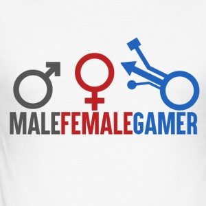 Gamer - Mann Kvinne Gamer - Slim Fit T-skjorte for menn