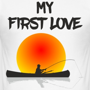 My First Love Fishing - Men's Slim Fit T-Shirt