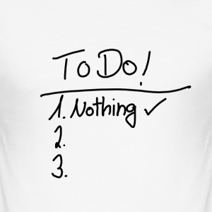To Do List - Männer Slim Fit T-Shirt