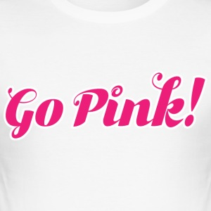 Go_Pink_Logo - slim fit T-shirt