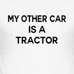 Second car tractor funny sayings - Men's Slim Fit T-Shirt