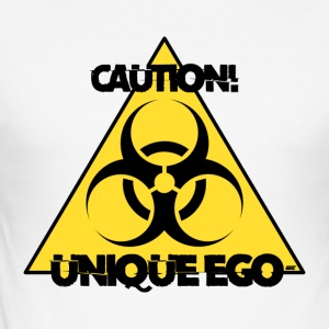 Caution! Unique Ego - The Biohazard Edition - Männer Slim Fit T-Shirt
