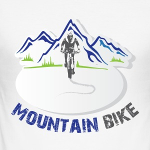 Mountain Bike - Men's Slim Fit T-Shirt