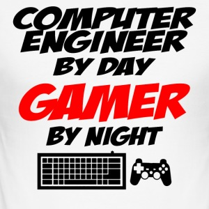 Computer ingeniør Gamer - Herre Slim Fit T-Shirt