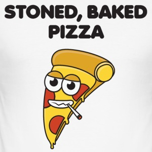 Stoned, Baked Pizza - Slim Fit T-skjorte for menn
