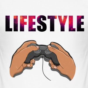 Gaming Livsstil - Slim Fit T-skjorte for menn