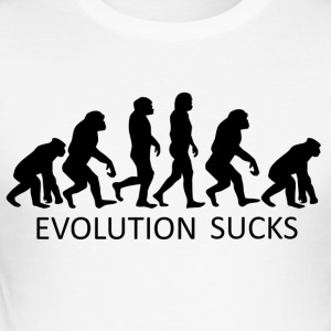 ++ ++ Evolution Sucks - Herre Slim Fit T-Shirt