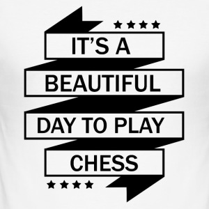 DET perfekt dag for CHESS at spille! - Herre Slim Fit T-Shirt