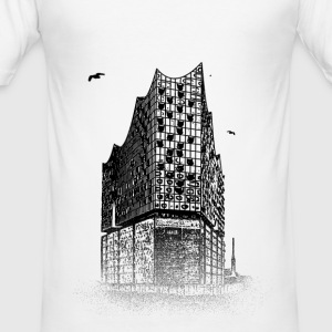 Around The World: Elbphilharmonie - Hamburg - Slim Fit T-skjorte for menn