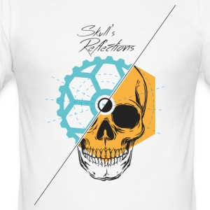 Skull s Reflections - Tee shirt près du corps Homme