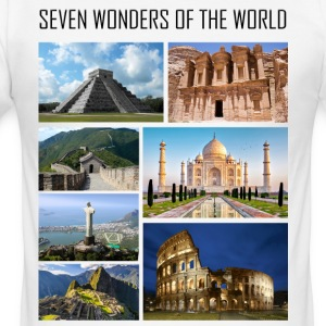 Wonders of the World - Wonders of the Modern World - Men's Slim Fit T-Shirt