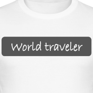 world traveler - Männer Slim Fit T-Shirt