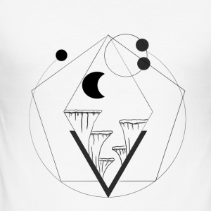 geometrische Kliff - slim fit T-shirt