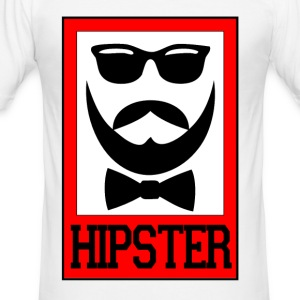 hipster - Slim Fit T-skjorte for menn