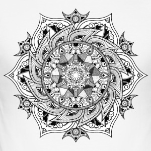 Mandala - Männer Slim Fit T-Shirt