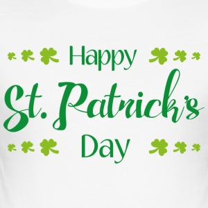 Glad St. Patricks Day - Slim Fit T-skjorte for menn
